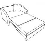 Детский диван схема Малина