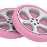 2 объемных колеса