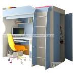 Фанки Кидз 11 СВ Кровать-Чердак со столом