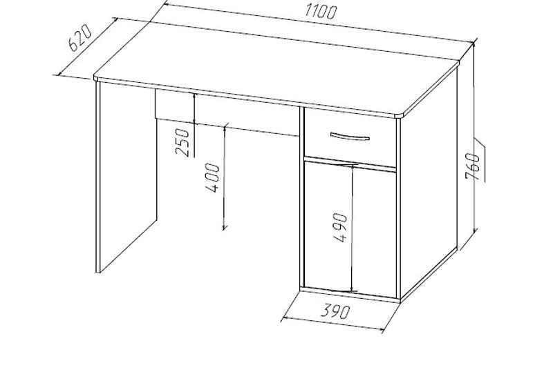 Высота стола, стандартные значения с учетом всех членов семь.