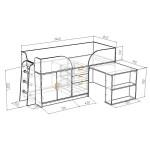 Фанки Кидз 10 СВ Кровать-чердак низкая