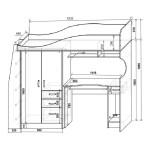 Фанки Кидз 4 СВ Кровать-Чердак со столом