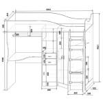 Фанки Кидз 7 СВ Кровать-Чердак со столом