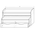 Фанки Кидз 8 СВ Кровать двухъярусная низкая