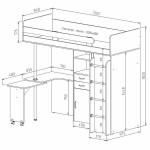 схема с размерами кровать чердак фанки соло 2