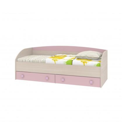 кровать-диван с 2 ящиками роза