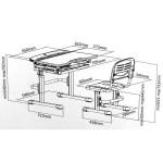 Фанки Деск 1 Растущая парта и стул схема