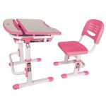 Фанки Деск 1 Растущая парта и стул розовая