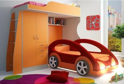 Детская кровать-чердак Funky Kids-4-1 Св Диван кровать Космик