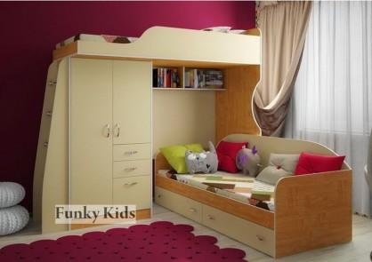 Детская кровать-чердак фанки Кидз-4-1 Св Кровать низкая Фанки Кидз 13-7 Св