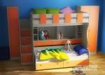Фанки Кидз 19 СВ Кровать двухъярусная