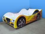 Кровать-машинка Маквин 95 желтая