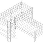 Двухъярусная кровать Соня 7 из массива угловая