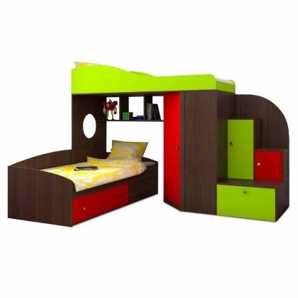 Двухъярусная кровать Кадет 2 с лестнице-комодом