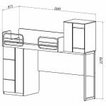 Кровать-чердак Твист Олли схема с размерами