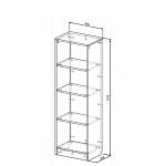 Шкафчик-стеллаж открытый Твист Олли схема с размерами