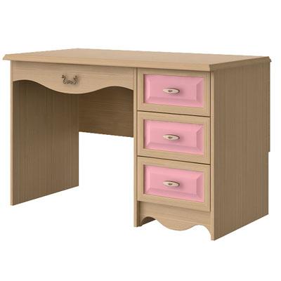 Стол письменный N0713 дуб светлый/розовый