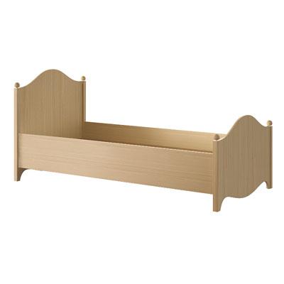 Кровать N1901 дуб светлый
