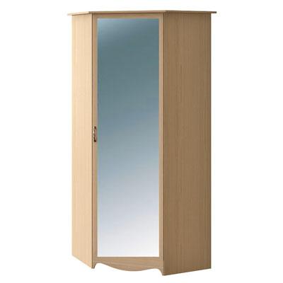 Шкаф угловой с зеркалом N2218M дуб светлый