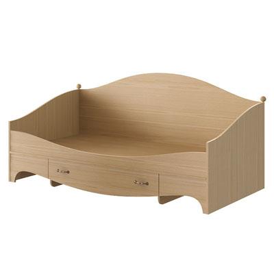 Кровать с ящиком N1922 дуб светлый