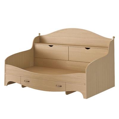 Кровать с ящиком и арконом N1922A дуб светлый