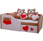 Детский диван с бортиком Мишки