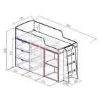 Фанки Кидз 14-1 ФМ кровать-чердак модульная