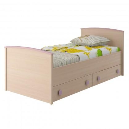 кровать с 2 ящиками роза
