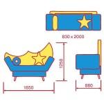 Детский диван Ночка М