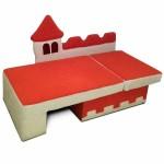 Диван детский Замок в разложенном виде