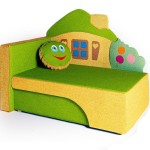 Детский диван Домик цветной