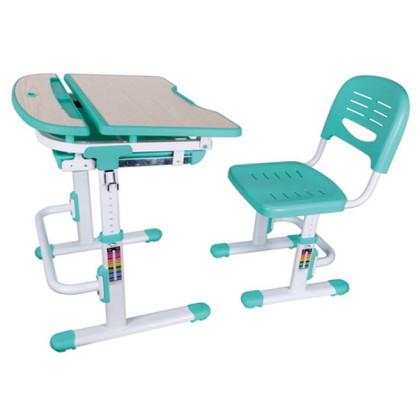 Фанки Деск 1 Растущая парта и стул зеленая