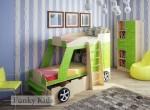 Фанки Кидз Джип Двухъярусная кровать 2 колеса