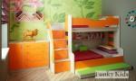 Фанки Кидз 21 СВ Кровать двухъярусная для троих детей