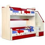 Кровать двухъярусная высокая Актив-3 и Актив-1