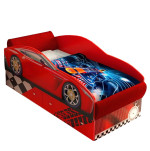 Кровать машина Тесла красная