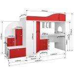 Кровать чердак Кадет 1 с лестнице-комодом