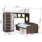 Двухъярусная кровать Кадет 2 с металлической лестницей