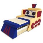Детский диван Паровозик цветной