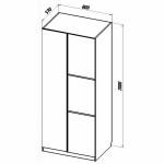 Шкаф для одежды Твист Олли схема с размерами